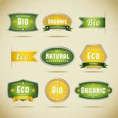 Coleção de rótulo orgânico — Vetor de Stock