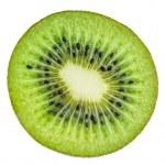 Beautiful slice of fresh juicy kiwi isolated on white background — Stock Photo