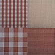 Set of textures fabrics — Stock Photo #20145665