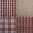 Set of textures fabrics  — Stockfoto