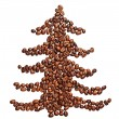 Coffee beans shaped as a christmas tree — Stock Photo #20145763