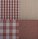 Set of textures fabrics — Stock Photo