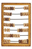 Old abacus isolated on a white background — Stock Photo