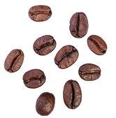 咖啡豆。在白色背景上孤立 — 图库照片