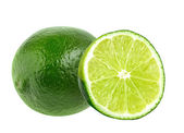 Fresh lime isolated on white — Stock Photo
