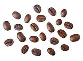 Coffee beans. Isolated on white background — Stock Photo