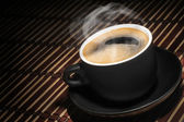 Cup of black coffee — Stock Photo