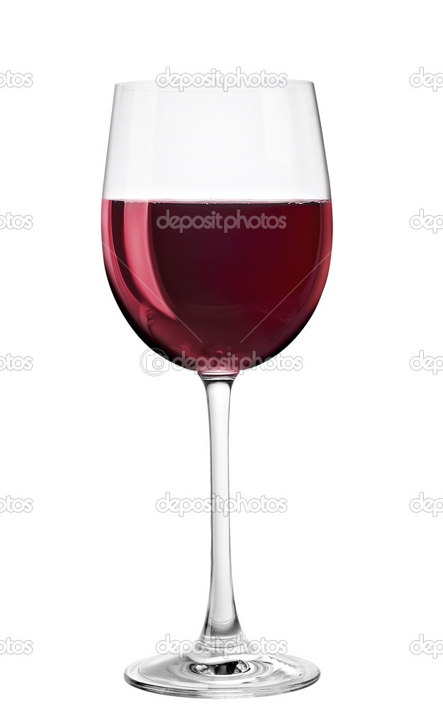 Copa de vino tinto aislado sobre fondo blanco fotos de for Copa vino tinto