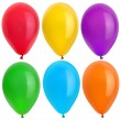 Stock Photo: color balloons isolated on white