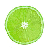 Fresh lime isolated on white background — Stock Photo