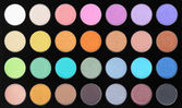 Make-up, colorful eye shadows palette — ストック写真