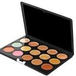Make-up palette isolated on white background. — Stock Photo