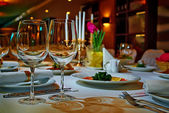 εστιατόριο σύνολο — Φωτογραφία Αρχείου