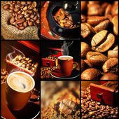 Kaffe collage — Stockfoto