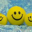 Family of happy smileys — Stock Photo