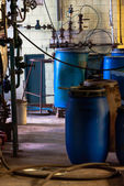 Industrial interior of a chemical plant — Stok fotoğraf