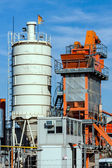 Cement silo outdoors — Stock Photo