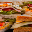 Sandwiches close up photo — Stock Photo