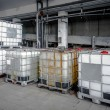 Industrial liquid tanks — Stock Photo