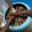 Old vintage jet engine — Foto Stock