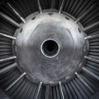 Closeup of a jet engine  — Stock Photo
