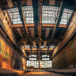 Dark industrial interior of a building — Stock Photo