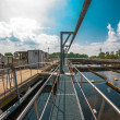 Stock Photo: Water treatment facility with large pools