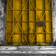 Closed Industrial door closeup photo — Stock Photo