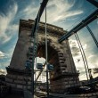 Angle shot of the hungarian chain bridge — Stock Photo