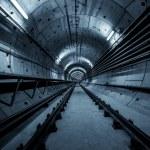 Deep metro tunnel — Stock Photo #33205589