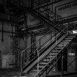 Stock Photo: Dark industrial interior of building