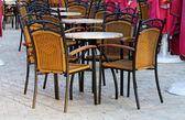 сцены на открытом воздухе в ресторане — Стоковое фото