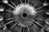 Gros plan d'un moteur à réaction — Photo