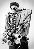 Closeup of a robot — Foto de Stock
