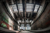 Dark industrial interior — Stock Photo
