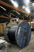 Industrial wire in the factory — Stock Photo
