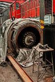 Old industrial generator — Stock Photo