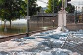Overstroomd terrein in europa — Stockfoto