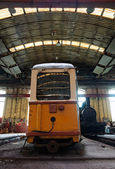 Old trains in abandoned depot — Foto Stock