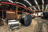 Industrielle draht in der fabrik — Stockfoto