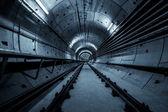 Deep metro tunnel — Stock Photo