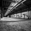 Stock Photo: Dark industrial interior