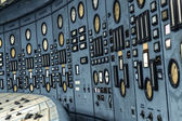 Illuminated control room of a power plant — Stockfoto