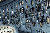 Illuminated control room of a power plant — ストック写真