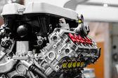 Turbo bilmotor — Stockfoto