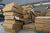 Lots of cardboard boxes — Stock Photo