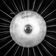 Closeup of a jet engine — Stock fotografie
