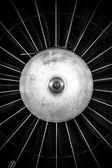 Closeup of a jet engine — Stock Photo