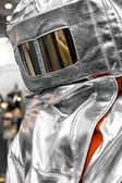 Protective clothes of a firefighter — Stock Photo