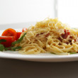 Spaghetti carbonara pasta.Italian cuisine — Stock Photo
